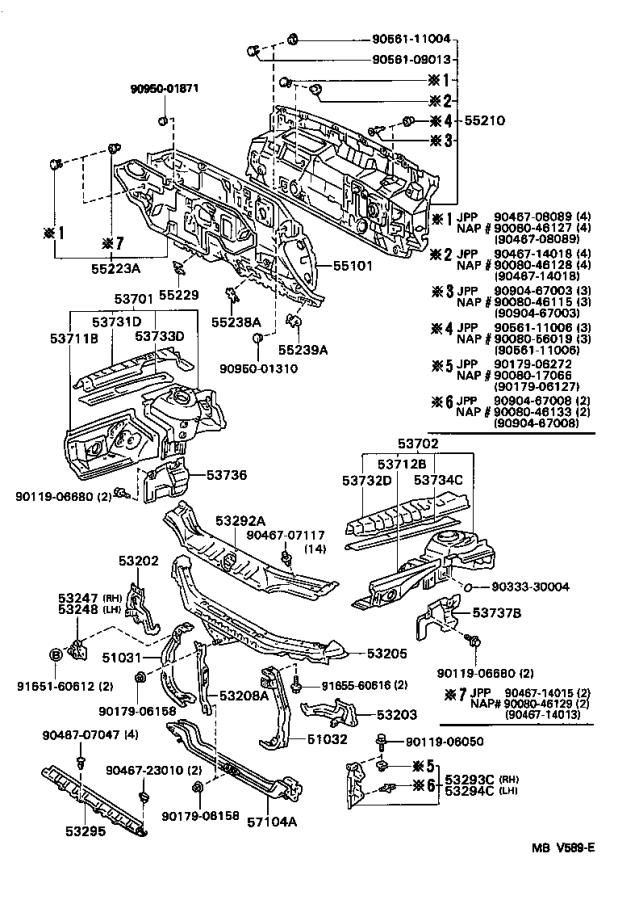 Toyota Camry Support Sub-assembly  Hood Lock  Interior  Body